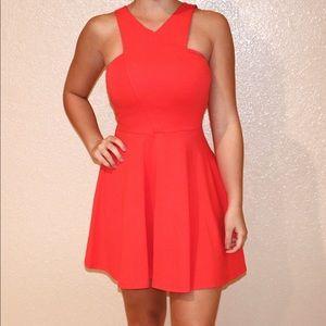 Red-orange Hollister dress
